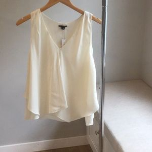Theory Cream Silk Blouse**Brand New with Tags**M